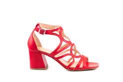 2356 sandalo nappa rosso
